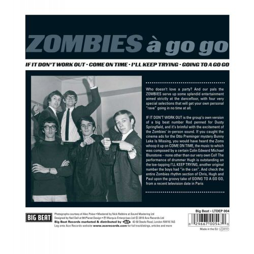 ZOMBIES A Go Go EP back