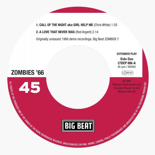 Zombies '66 EP label side 1