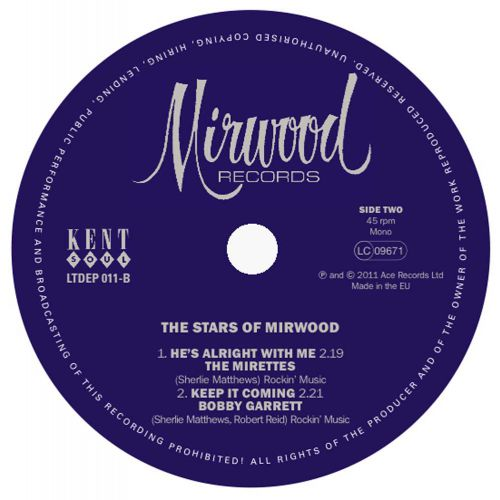 The Stars Of Mirwood LP label side 2