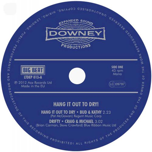 Hang It Out To Dry! LP label side 1
