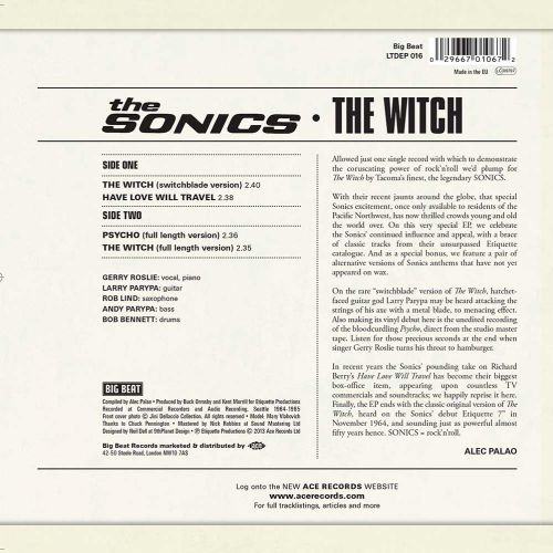 The Witch LP back cover
