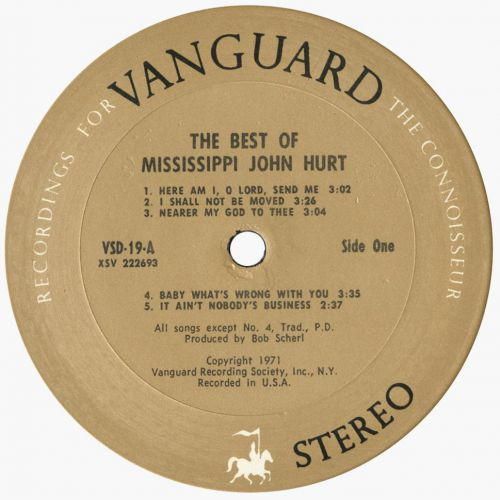 The Best Of Mississippi John Hurt side 1