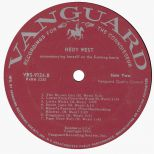 Hedy West LP label courtesy Ace Records Ltd.