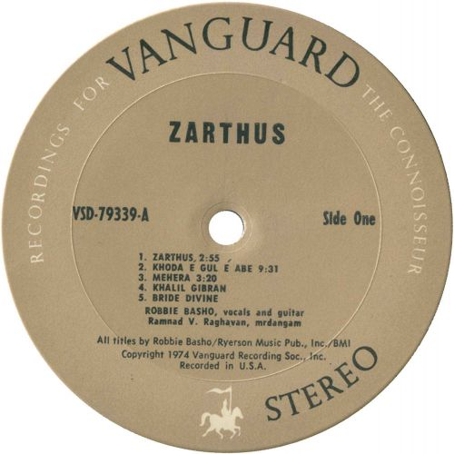 Zarthus LP label side 1
