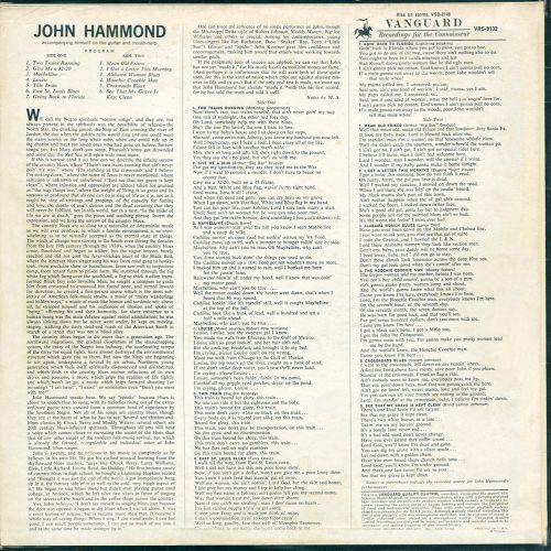 John Hammond sleeve back