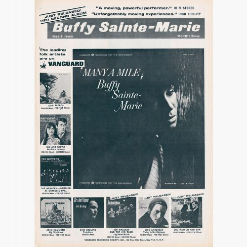 Buffy Sainte-Marie advert