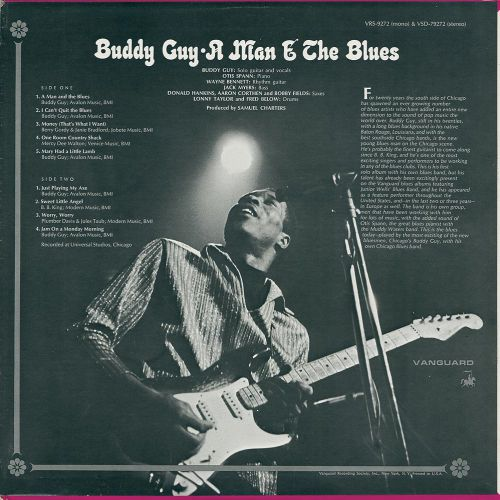 A Man And The Blues sleeve back