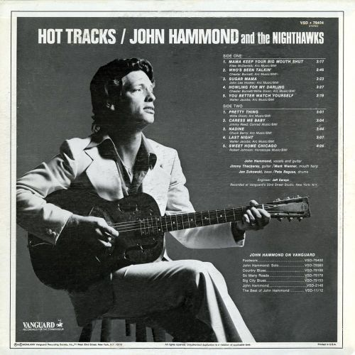 Hot Tracks LP sleeve back