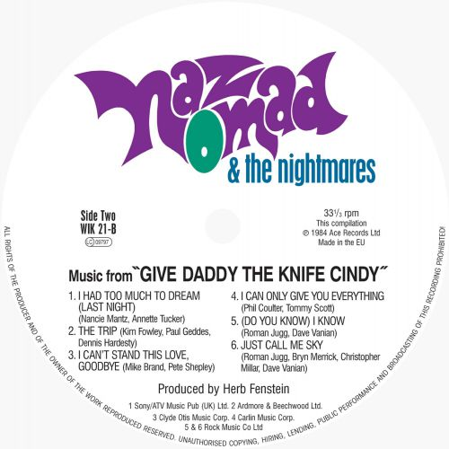 Give Daddy The Knife Cindy side 2