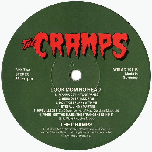 Look Mom No Head! LP label side 2