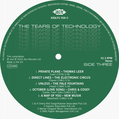 """Tears Of Technology"" LP Label"