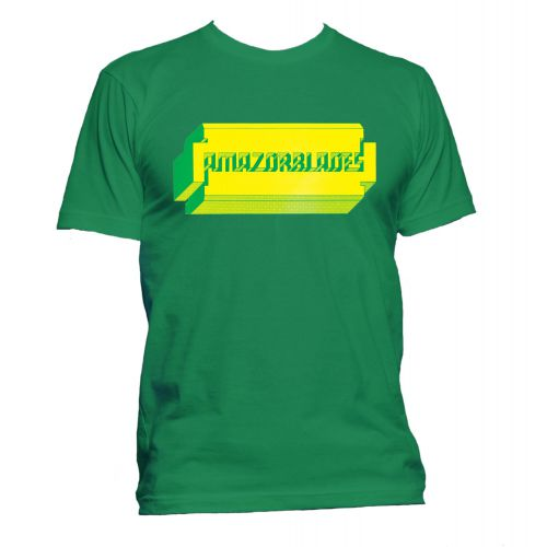 Amazorblades 'Barney Bubbles' T Shirt Irish Green [167]