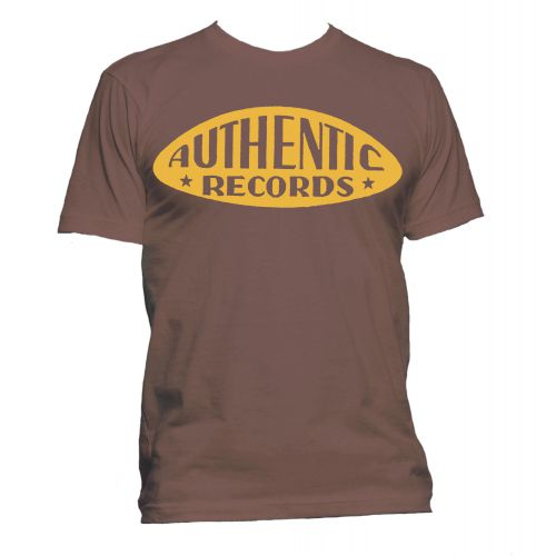 Authentic Records T Shirt Chestnut Brown [84]