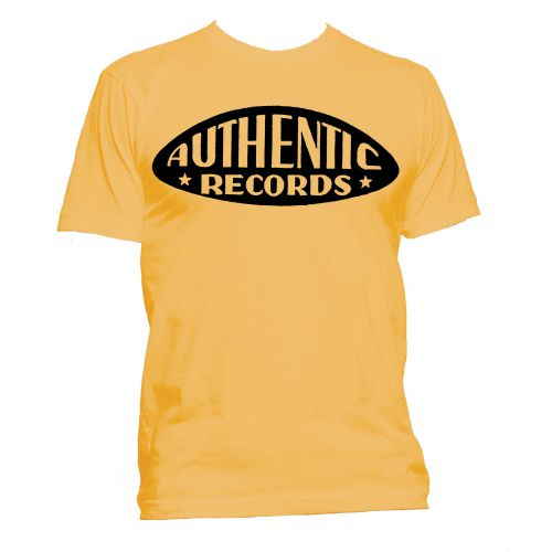 Authentic Records T Shirt Gold [24]