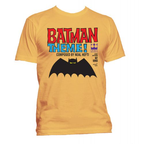 Batman Theme T Shirt Gold [24]