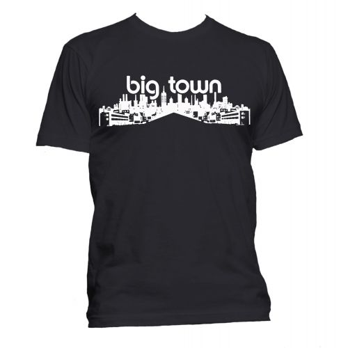 Big Town Records T Shirt Black [36]