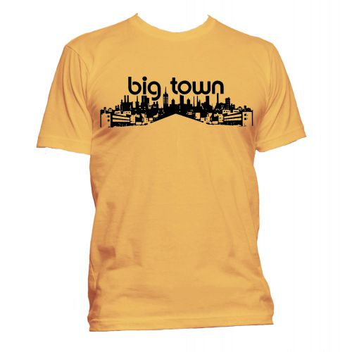 Big Town Records T Shirt Gold [24]