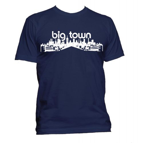 Big Town Records T Shirt Navy [32]