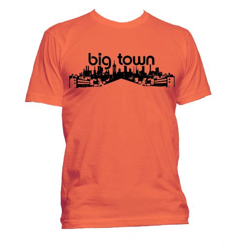 Big Town Records T Shirt Orange [37]