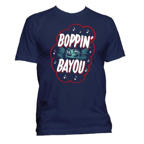 Boppin' By The Bayou T Shirt Navy [32]