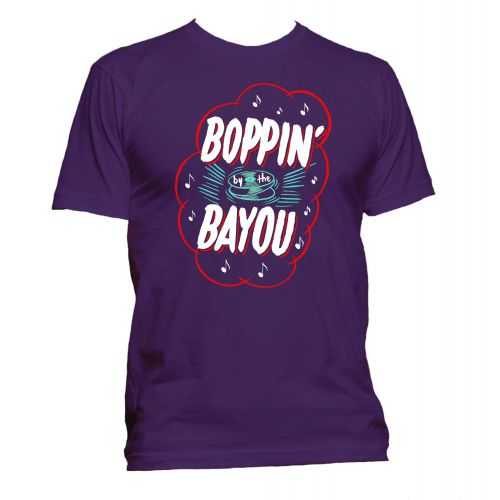 Boppin' By The Bayou T Shirt Purple [81]