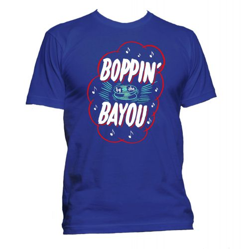 Boppin' By The Bayou T Shirt Royal Blue [51]