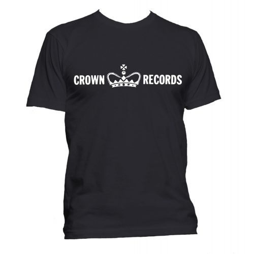 Crown Records 'Crown' T Shirt Black [36]