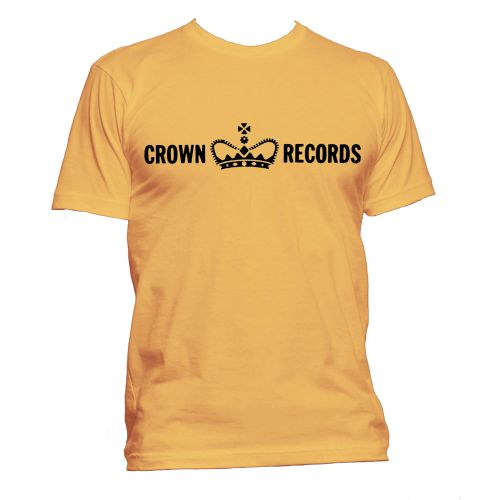 Crown Records 'Crown' T Shirt Gold [24]