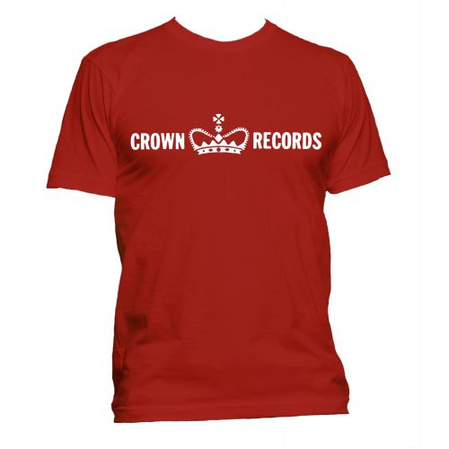 Crown Records 'Crown' T Shirt Red [40]