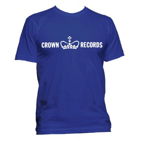 Crown Records 'Crown' T Shirt Royal Blue [51]