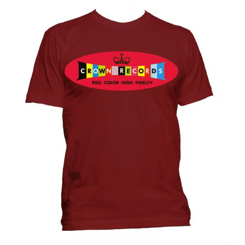 Crown Records 'Lozenge' T Shirt Cardinal [11]