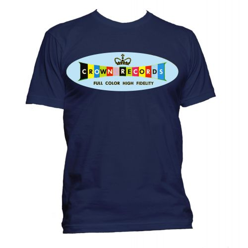 Crown Records 'Lozenge' T Shirt Navy [32]