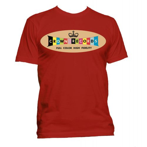 Crown Records 'Lozenge' T Shirt Red [40]