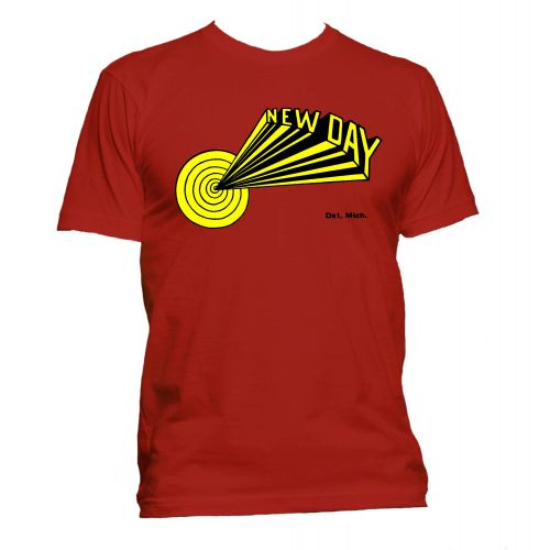 Dave Hamilton 'New Day' T Shirt Red [40]