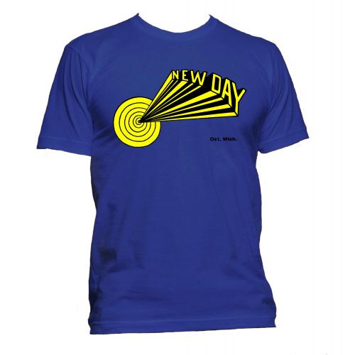 Dave Hamilton 'New Day' T Shirt Royal Blue [51]