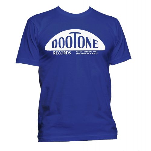 The Dootone Records T Shirt Royal Blue [51]