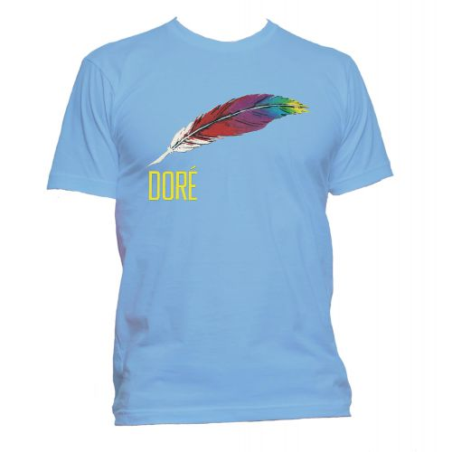 Dore Records Hollywood T Shirt Carolina Blue [109]