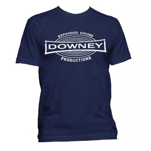 Downey Records T Shirt Navy [32]