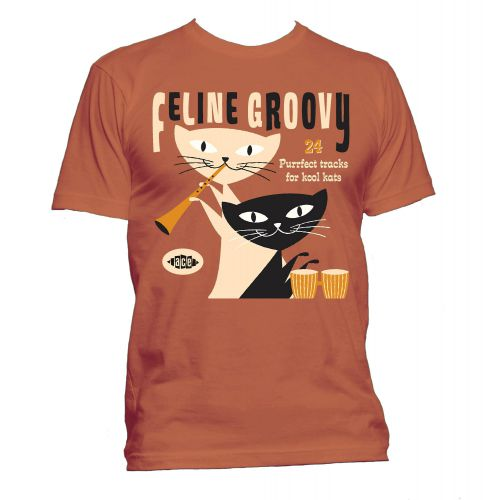 Feline Groovy T Shirt Texas Orange [25]