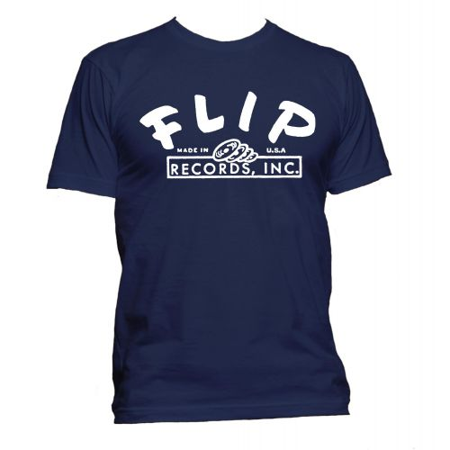Flip Records T Shirt Navy [32]