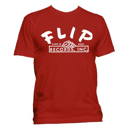 Flip Records T Shirt Red [40]