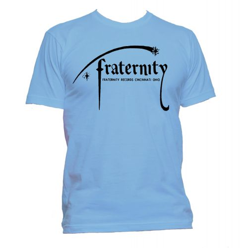 Fraternity Records T Shirt Carolina Blue [109]