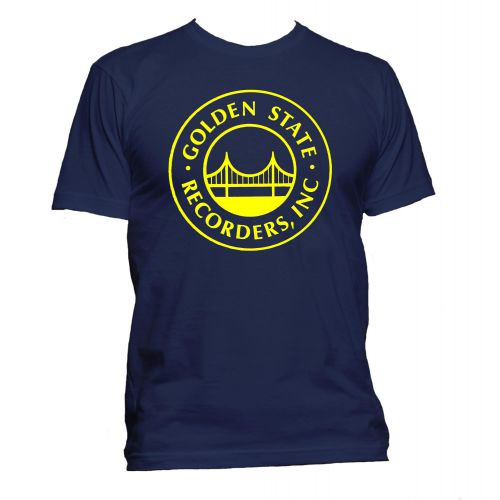 Golden State Recorders T Shirt Navy [32]