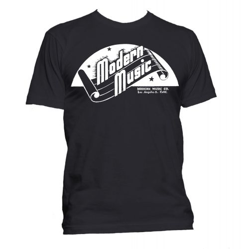 Modern Music 'Scroll' T Shirt Black [36]