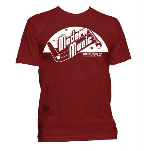 Modern Music 'Scroll' T Shirt Cardinal Red [11]