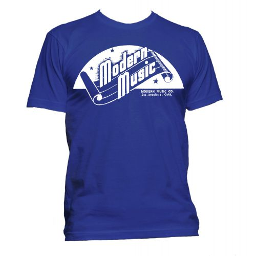 Modern Music 'Scroll' T Shirt Royal Blue [51]