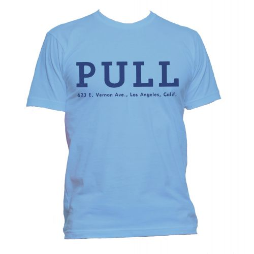 Pull Records T Shirt Carolina Blue [109]