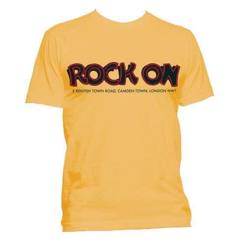 Rock On T Shirt Gold [24]