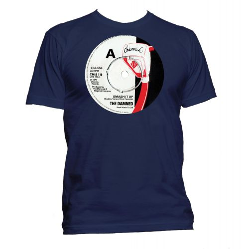 Smash It Up Chiswick Records T Shirt Navy [32]