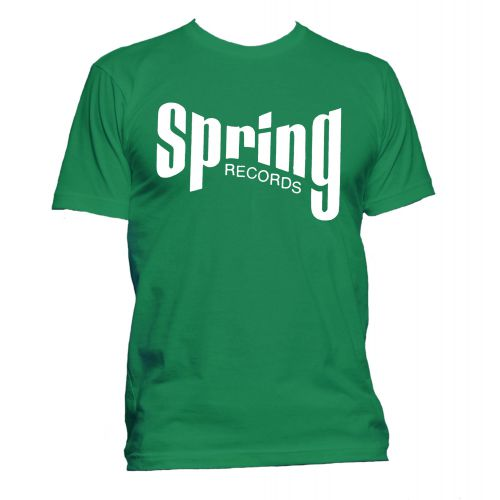 Spring Records '60s' T Shirt Irish Green [167]